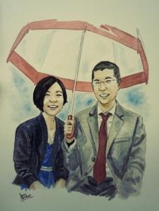 Watercolour portrait by Jennie GyllBlad