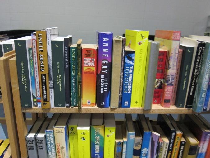 LonCon3 Library shelf - spot SUN!