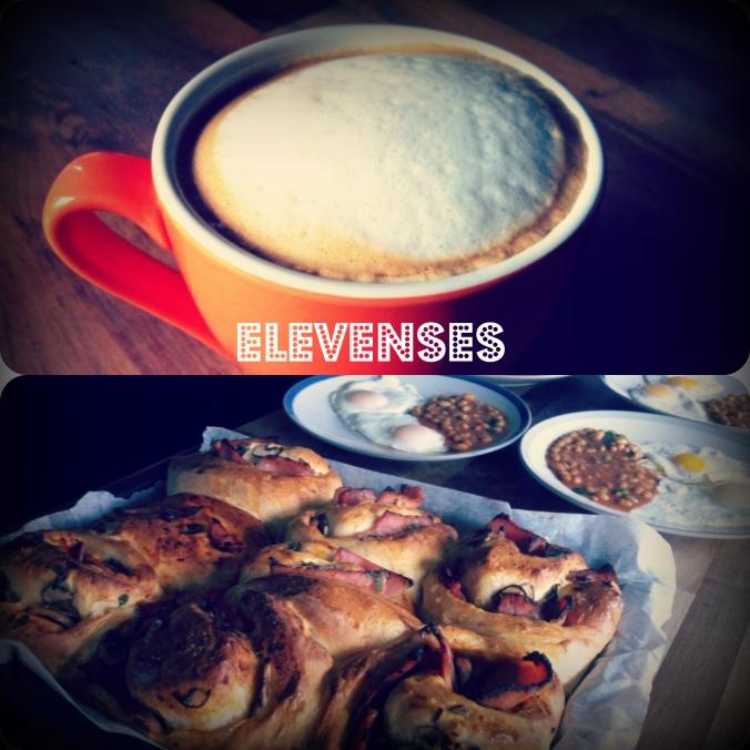 Coffee and breakfast rolls by @kenephatfingers